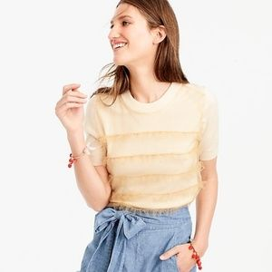 🌞HP!🌞 J. Crew Short-Sleeve Tippi with Tulle